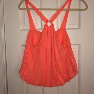 Neon pink keyhole top from free people